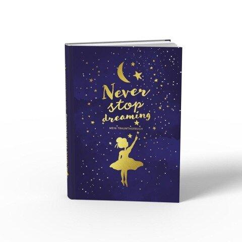 Traumtagebuch für deine Träume - das Tagebuch für luzide Träume, Klarträume, Tagträume und Albträume. Hardcover Buch mit Goldfolie in 155x225 mm und zwei Lesebändern in Gold und Blau. Stay Inspired! by Lisa Wirth - Lisa Wirth