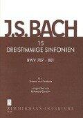 15 dreistimmige Sinfonien BWV 787-801 - Johann Sebastian Bach