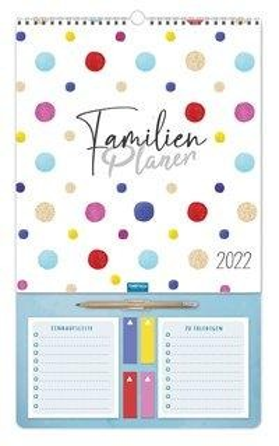 Trötsch Familienkalender Familienplaner mit Stift 2022 -