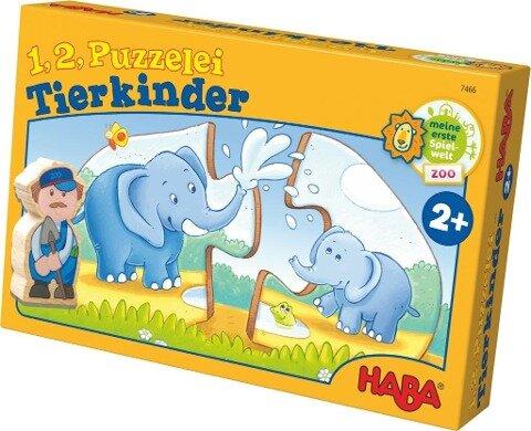 1, 2, Puzzelei - Tierkinder -