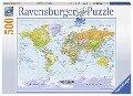 Weltkarte, politisch. Puzzle 300-500 Teile -
