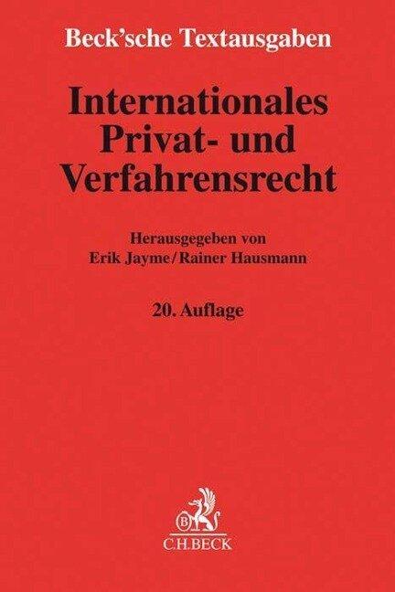 Internationales Privat- und Verfahrensrecht -
