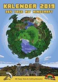 Kalender 2019 - 365 Tage mit Minecraft inklusive Tipps, Tricks & Crafting Rezepten im DIN A4 Format - David Haberkamp