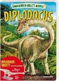 Dinosaurier-Skelett- Modell Diplodocus zum Basteln für Kinder - Samantha Hilton