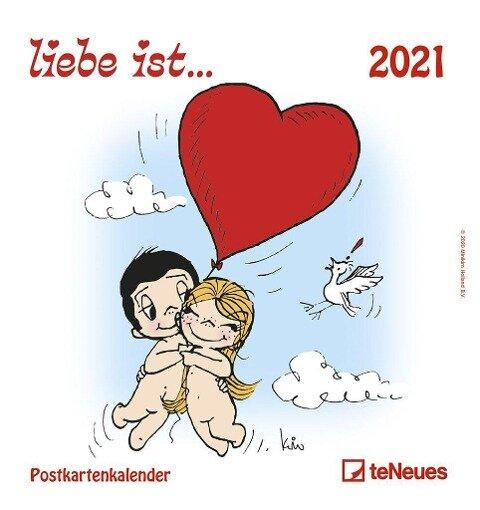 liebe ist... 2021. Postkartenkalender - Kim Casali