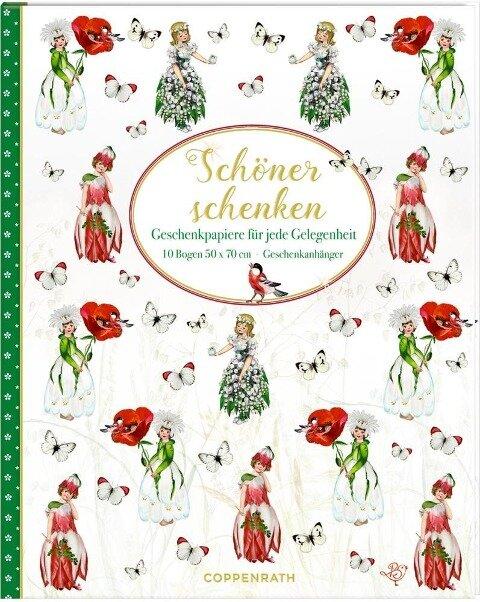 Geschenkpapier-Buch - Schöner Schenken (Blumenkinder) -