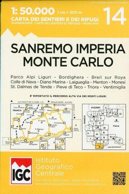 San Remo Imp1:50 000 Wanderkarte 14 -