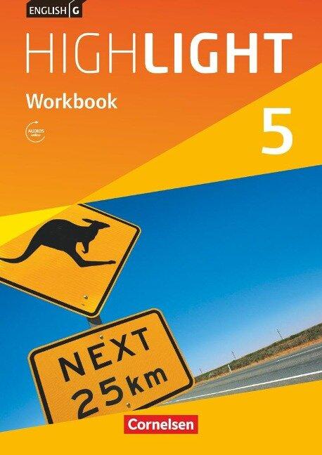English G Highlight Band 5: 9. Schuljahr - Hauptschule - Workbook mit Audios online - Gwen Berwick