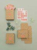 Adventskalender Boxen, Kraftpapier/Gold -