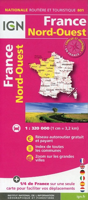 France Nord-Ouest 1:320 000 -