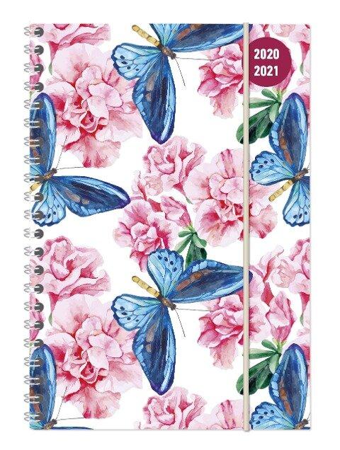 Collegetimer Butterfly 2020/2021 - Schüler-Kalender A5 (15x21 cm) -