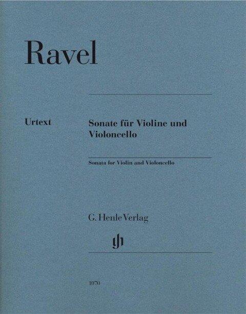 Sonate für Violine und Violoncello, Urtext - Maurice Ravel