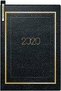Brunnen Taschenkalender 2019, 7x10cm, schwarz -