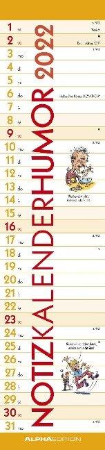 Notizkalender Humor 2022 -