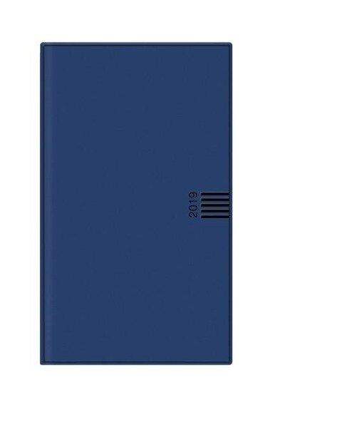 Monats-Taschenkalender 2019 blau -