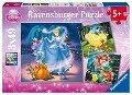 Disney Princess: Schneewittchen, Aschenputtel, Arielle. Puzzle 3 x 49 Teile -