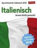 Sprachkalender Italienisch 2018 - Carlotta Rainoldi, Steffen Butz