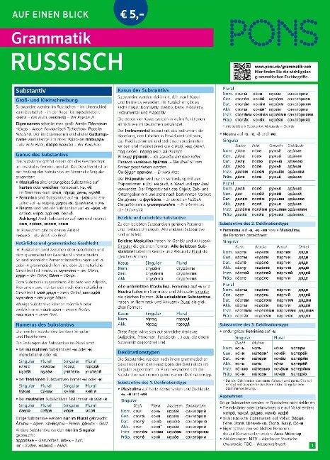 PONS Grammatik auf einen Blick Russisch -