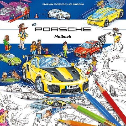 Porsche Malbuch für Kinder -
