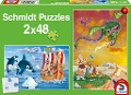 Wikinger. Puzzle 2 x 48 Teile -