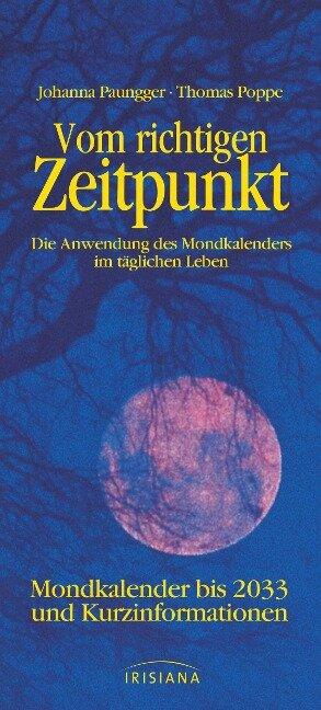 Vom richtigen Zeitpunkt - Johanna Paungger, Thomas Poppe