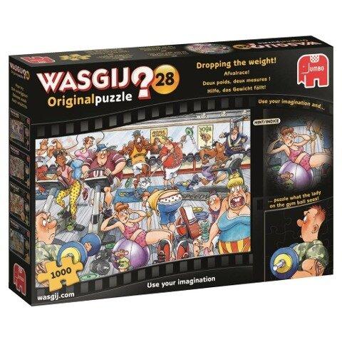 Wasgij Originalpuzzle 28 - Hilfe, das Gewicht fällt! - 1000 Teile -
