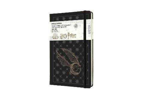 Moleskine 18 Monate Wochen Notizkalender 2021/2022 Harry Potter, Large/A5, 1 Wo = 1 Seite, rechts linierte Seite, Gebunden, Schwarz -
