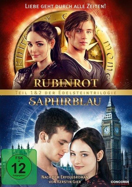 Doppel-DVD Rubinrot/Saphirblau - Die Doppeledition / 2 DVDs (ohne CH) - Katharina Schöde, Kerstin Gier, Philipp F. Kölmel