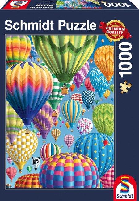 Bunte Ballone im Himmel, 1.000 Teile Puzzle -