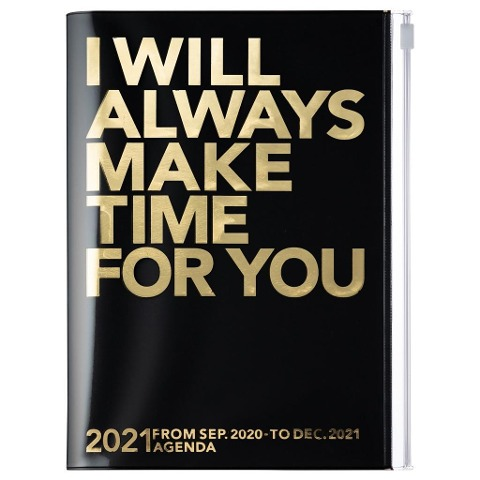 MARK'S 2020/2021 Taschenkalender A5 vertikal, MAKE TIME Black -