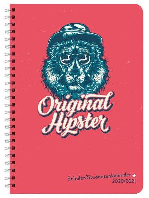 Hipster Schüler-/Studentenkalender A5 Kalender 2021 -