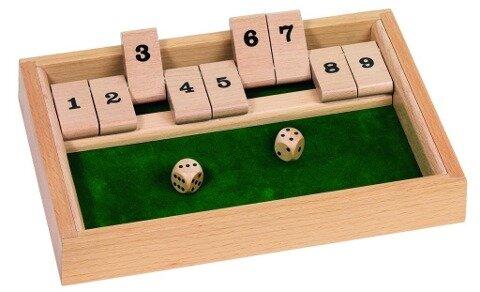 Würfelspiel Shut the box -