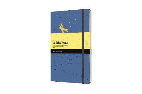 Moleskine 12 Monate Wochen Notizkalender 2022 Der kleine Prinz, Large/A5, 1 Wo = 1 Seite, rechts linierte Seite, Gebunden, Vergissmeinnicht Blau -
