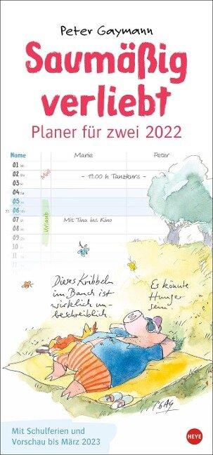 Peter Gaymann: Saumäßig verliebt Planer für zwei Kalender 2022 - Peter Gaymann
