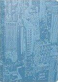 Brunnen Schülerkalender 2018/2019 Manhattan, türkis -