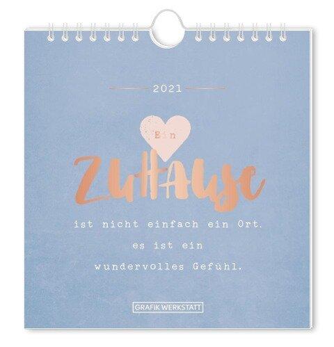 """Postkartenkalender 2021 """"Zuhause"""" -"""