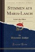 Stimmen aus Maria-Laach, Vol. 44 - Unknown Author