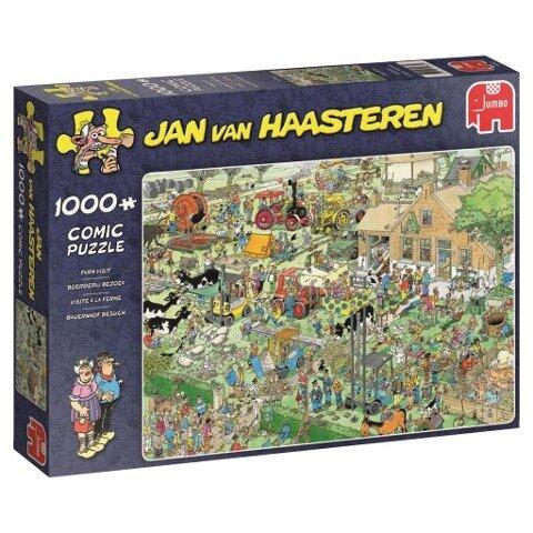 Jan van Haasteren - Bauernhof Besuch - 1000 Teile Puzzle -