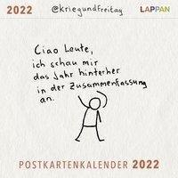 @kriegundfreitag Postkartenkalender 2022 - @Kriegundfreitag