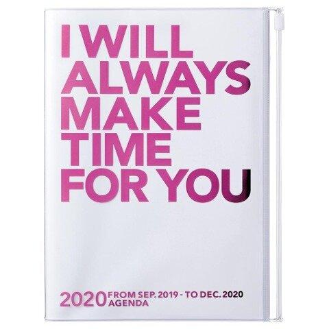 MARK'S 2020 Taschenkalender A5 vertikal, MAKE TIME Pink -