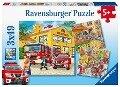 Feuerwehreinsatz. Puzzle (3 x 49 Teile) -