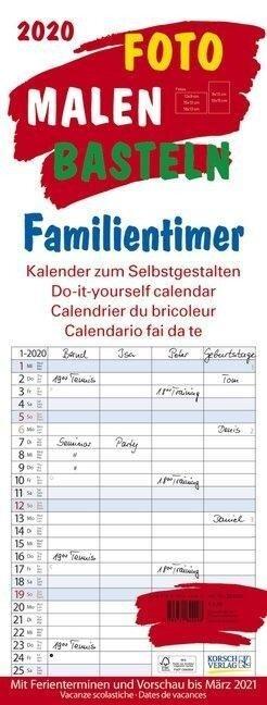 Foto-Malen-Basteln Familientimer 2020 -