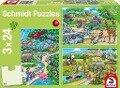 Ein Tag im Zoo. 3 x 24 Teile Puzzle -