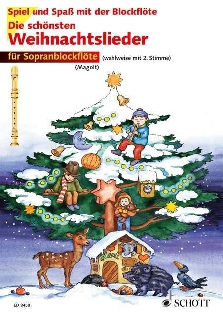 Die schönsten Weihnachtslieder. 1-2 Sopran-Blockflöten -