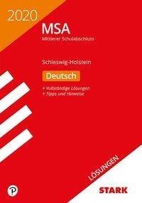 Lösungen zu Original-Prüfungen und Training MSA 2020 - Deutsch - Schleswig-Holstein -