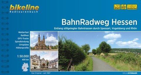 bikeline Radtourenbuch BahnRadweg Hessen -