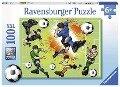 Im Fußballfieber. Puzzle 100 Teile XXL -
