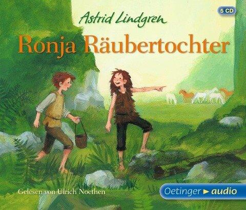 Ronja Räubertochter (5 CD) - Astrid Lindgren, Dieter Faber, Frank Oberpichler
