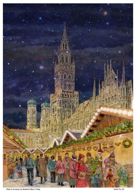 """Adventskalender """"München Marienplatz"""" - Pavel Piotre"""
