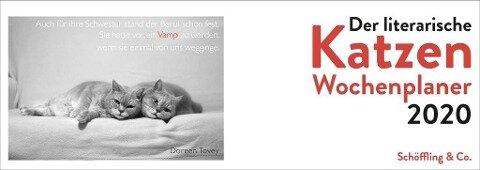 Der literarische Katzen Wochenplaner 2020